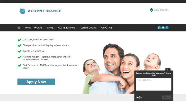 Acorn Finance - Online loans up to $5 000