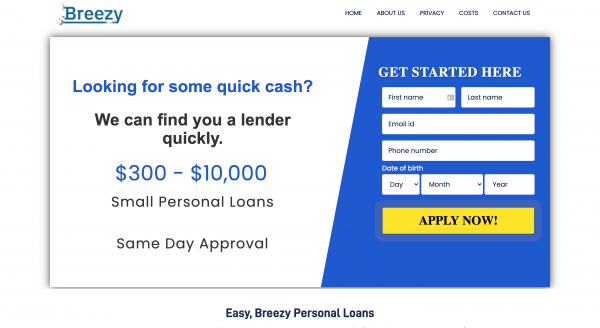 Breezy Loans - Personal loans up to $10 000