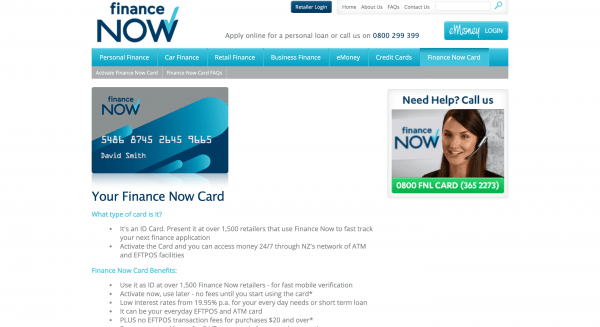 Finance Now Card